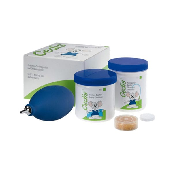 Cedis Kids Cleansing Drying set for BTE earmoulds